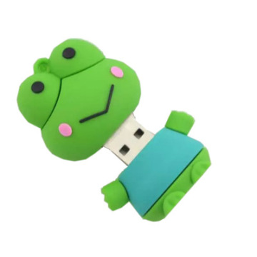 Unidade flash USB Green Cute Frog