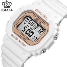 SMAEL Fashion цифровые женские часы с водонепроницаемой подсветкой