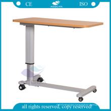 wooden board AG-OBT015 Adjustable patient room hospital overbed table