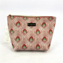 Popular Custom Designer Cosmetic Pouch Boat Peacork Toiletry Bag Organizer For Women Wash Travel Makeup Bags