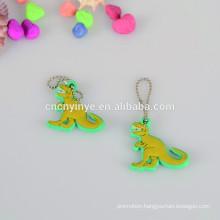 Dinosaur Shape Soft Pvc Pendant / Hanger With Ball Chain