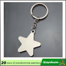 Keychain relativo à promoção da placa da estrela do metal do presente com o laser do logotipo gravado