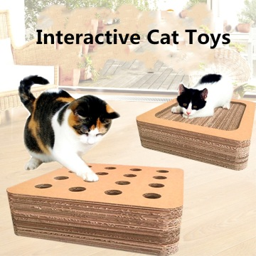 corrugated paper cat scratch board toy with hole