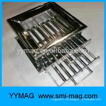 Imán magnético de barra de filtro para aplicaciones industriales