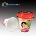 IML Plastic Fruit Salad Cup Container With Lid