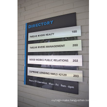 Building Floor Lobby Stair Entry Directory Sign