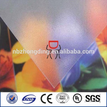 customized size plastic polycarbonate frosted sheet