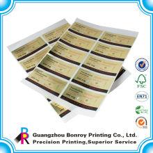 Etiquetas engomadas adhesivas personalizadas de la etiqueta engomada del negocio del bajo precio que imprimen