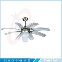 Ventilador de metal decorativo de seis cuchillas 42 pulgadas