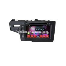 Venta caliente !! Sistema de navegación de audio para coche dvd, Bluetooth, MIRROR-CAST, AIRPLAY, DVR, Juegos, Zona dual, SWC para honda fit 2014