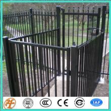 modelos de diseño de la cerca superior plana de aluminio