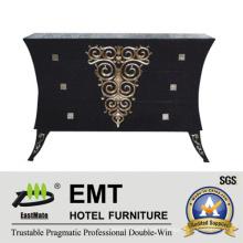 Black Exquisite Wooden Cabinet Living Room Decorative Cabinet (EMT-DC04)