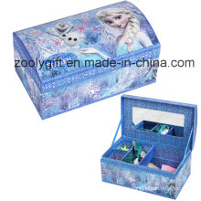 Popular Paper Jewelly Organizer Storage Gift Box with Dividers and Mirror