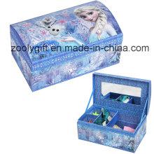 Популярная бумага Jewelly Organizer Хранение Подарочная коробка с разделителями и зеркалом