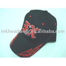 Baseball cap with plastic logo on the peak
