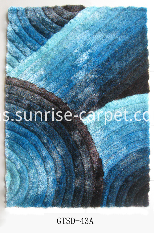 Polyester mix with Elastic Shaagy 3D Rug