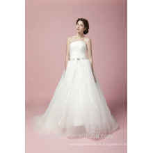 Le plus récent Glamorous Embroidered A-Line Sweetheart Neckline and Sleeveless Floor-Length Lace Robe de mariée AS28102
