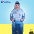 PE Disposable Transparent Emergency Rain Poncho with Customized Logo
