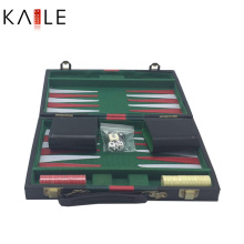 11-Zoll-Leder-Backgammon-Set