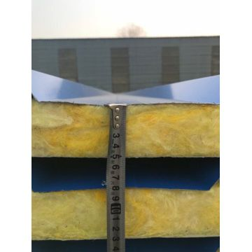 Exterior glass wool sandwich wall panels