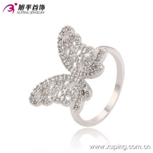 Latest Cool CZ Butterfly Rhodium Jewelry Finger Women Ring -13665
