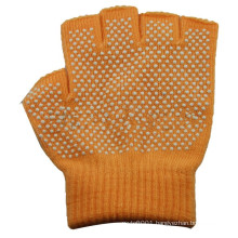 NMSAFETY half fingers knit glove with white PVC dots on one side