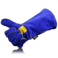 cow split safety welding leather glove for working