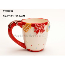 Tasse à café en céramique à la main peinte à la main