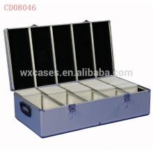 alta calidad y fuerte 1000 discos aluminio CD caja CD por mayor
