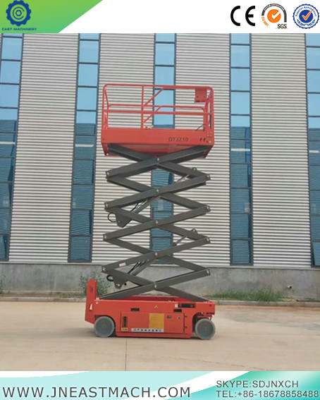 Self Propelled Scissor Lift Aerial Working Platform China One Man Lift