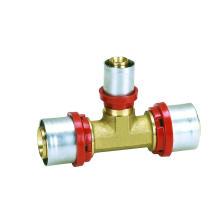 Th (Ajuste de prensa) de Tee reductor (Hz8511) para tubería Pex-Al-Pex, tubería de plástico, tubería de calefacción