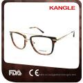 Gentleman big size Newest design hot seller Fashion acetate with metal bridge optical glasses & acetate eyeglasses eyewear