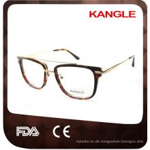Gentleman big size Neuestes Design heißer Verkäufer Mode Acetat mit Metall Brücke optische Gläser & Acetat Brillen Brillen