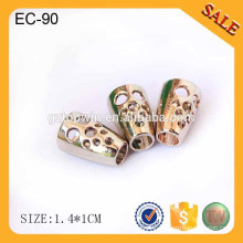 EC89 2015 fashion gold custom rope cord stopper for clothing wholesale