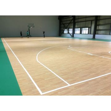 FIBA-geprüfter Indoor-PVC-Basketballboden