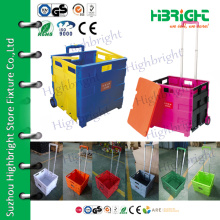 colorful plastic folding box trolley