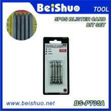 High Power & New Design 5PC Bit Set avec Blister Card