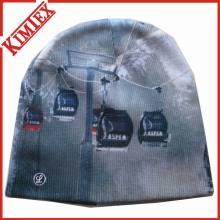 Promoção de Inverno Sublimação Chapéu de malha de impressão