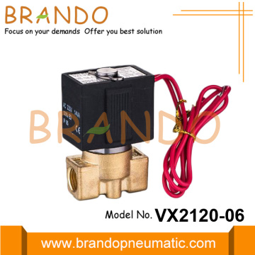 1/8 '' VX2120-06 SMC type messing magneetventiel 24VDC