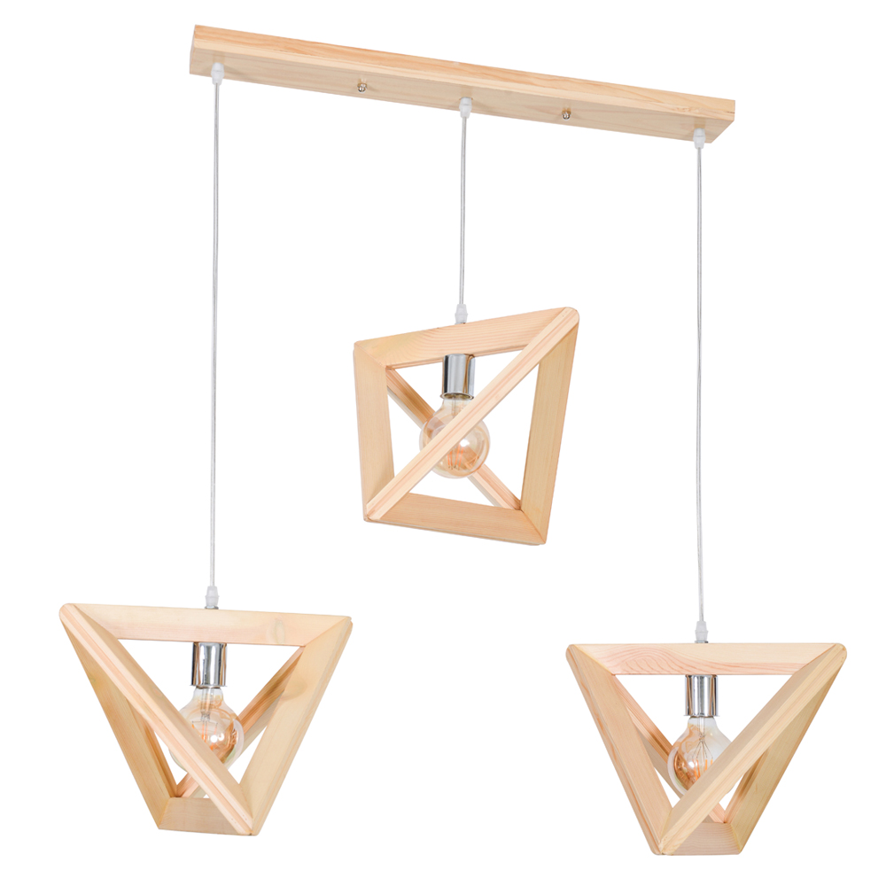 Geometry Wood 3 Lamps