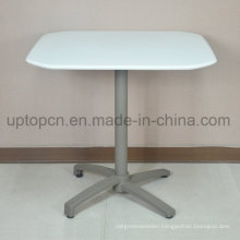 Outdoor Garden Square Table with Aluminum Leg and Polypropylene Table Top (SP-AT380)