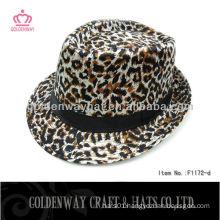 Little Girls Fashion cheap Leopard fedora hat