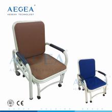 Equipé de six roulettes silencieuses hôpital utilisé des chaises pliantes en métal