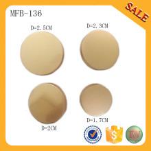 MFB136 Mode leere Kleidungsstück Metall-Taste benutzerdefinierte Nähen Tasten Schaft Schaltflächen