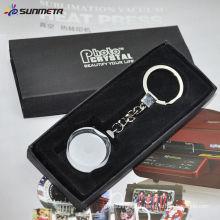 Porte-clés en cristal / verre à cristaux liquides / cadeau / occasion / roundness keychain