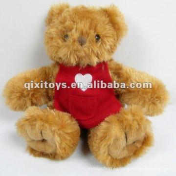 lindo oso de peluche pequeño peluche relleno con ropa