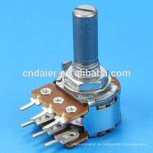 Potenciómetro rotativo de doble unidad WH148-1B-2-N