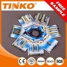 batería (pila alcalina oro 4pcs/shrink OEM dado la bienvenida sin batería de mercurio