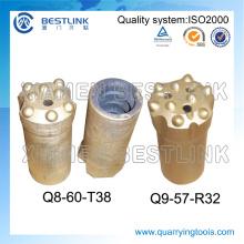 Broca de carboneto padrão R32 de 57 mm e 64 mm