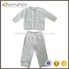 nouveau design mode blanc bébé enfants chandail pantalons setsater